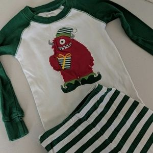 Gymboree size 3T holiday Christmas themed pajamas